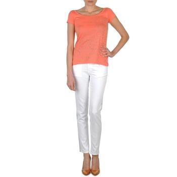 Textiel Dames Skinny jeans Calvin Klein Jeans JEAN BLANC BORDURE ARGENTEE Wit