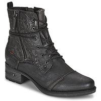 Schoenen Dames Laarzen Mustang 1229508 Zwart