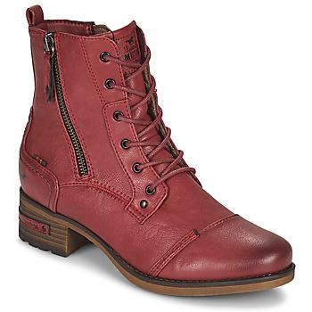 Schoenen Dames Laarzen Mustang 1229513 Rood