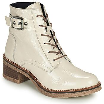 Schoenen Dames Enkellaarzen Dorking LUCERO Ecru