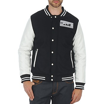 Textiel Heren Wind jackets Wati B OUTERWEAR JACKET Zwart / Wit