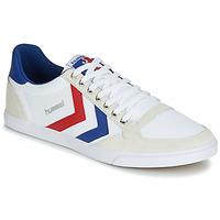 Schoenen Lage sneakers Hummel TEN STAR LOW CANVAS Wit / Rood / Blauw