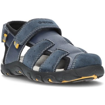 Schoenen Jongens Sandalen / Open schoenen Geox SANDALEN  STRADA J1524B MARINE