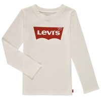 Textiel Meisjes T-shirts met lange mouwen Levi's LS BATWING TEE Wit