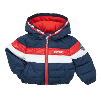 Textiel Jongens Dons gevoerde jassen Levi's COLORBLOCK JACKET Marine / Wit / Rood