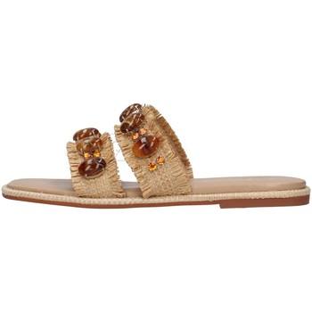 Schoenen Dames Leren slippers Alma Blue V21BL9001 BEIGE