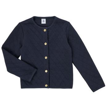 Textiel Meisjes Vesten / Cardigans Petit Bateau COLYNNE Blauw