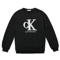 Textiel Meisjes Sweaters / Sweatshirts Calvin Klein Jeans POLLI Zwart