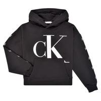 Textiel Meisjes Sweaters / Sweatshirts Calvin Klein Jeans SALOMA Zwart