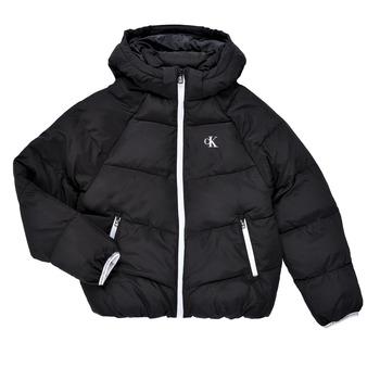 Textiel Meisjes Dons gevoerde jassen Calvin Klein Jeans BRINIMA Zwart