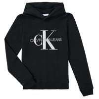 Textiel Kinderen Sweaters / Sweatshirts Calvin Klein Jeans TRINIDA Zwart