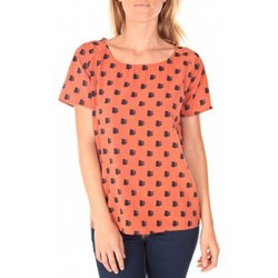 Textiel Dames T-shirts korte mouwen Vero Moda Racoon South Hamptons SS Top EA Rouille Oranje