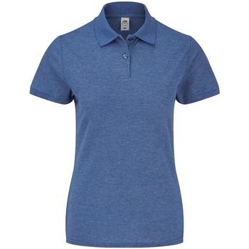 Textiel Dames Polo's korte mouwen Fruit Of The Loom SS86 Koninklijke blauwe heide