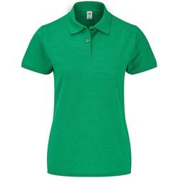 Textiel Dames Polo's korte mouwen Fruit Of The Loom SS86 Groene heide