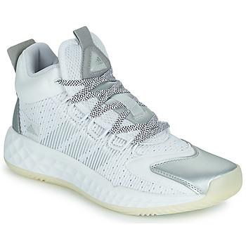 Schoenen Basketbal adidas Performance PRO BOOST MID Wit / Zilver