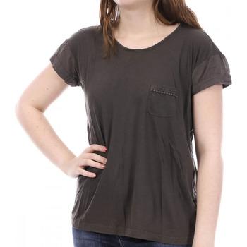 Textiel Dames T-shirts korte mouwen Sun Valley  Bruin