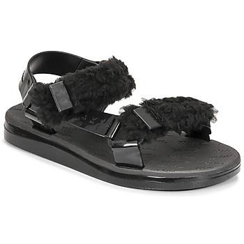 Schoenen Dames Sandalen / Open schoenen Melissa MELISSA PAPETTE FLUFFY RIDER AD Zwart