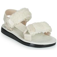 Schoenen Dames Sandalen / Open schoenen Melissa MELISSA PAPETTE FLUFFY RIDER AD Beige / Zwart