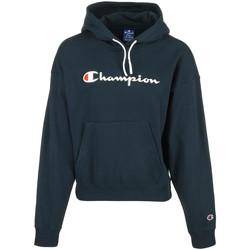 Textiel Dames Sweaters / Sweatshirts Champion Hooded Sweatshirt Wn's Blauw