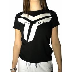 Textiel Dames T-shirts korte mouwen Richmond Sport UWP21073TS Black