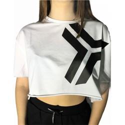 Textiel Dames T-shirts korte mouwen Richmond Sport UWP21052TS White