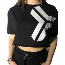 Textiel Dames T-shirts korte mouwen Richmond Sport UWP21052TS Black