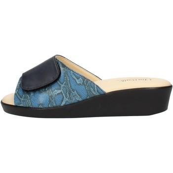 Schoenen Dames Leren slippers Clia Walk COMFORT310 Blue