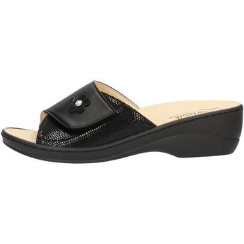 Schoenen Dames Leren slippers Clia Walk ESTRAIBILE496 Black