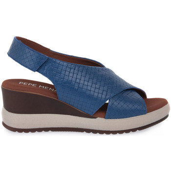 Schoenen Dames Sandalen / Open schoenen Pepe Menargues JEANS VACUNO Blu