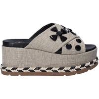Schoenen Dames Leren slippers Exé Shoes G470017144581 Grijs