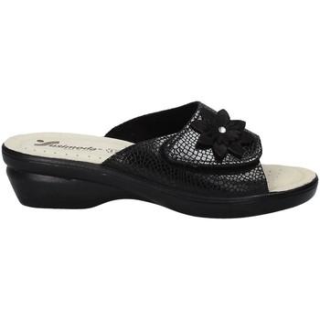 Schoenen Dames Leren slippers Susimoda 1699 Zwart