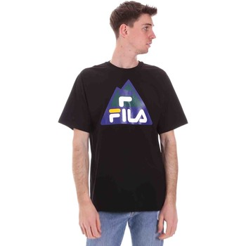 Textiel Heren T-shirts korte mouwen Fila 688525 Zwart