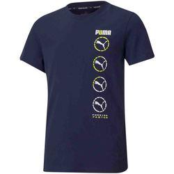 Textiel Kinderen T-shirts korte mouwen Puma 585855 Blauw