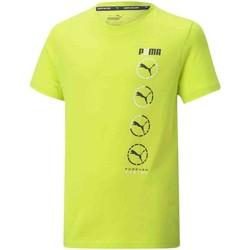 Textiel Kinderen T-shirts korte mouwen Puma 585855 Geel