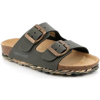 Schoenen Kinderen Leren slippers Grunland CB2651 Groen