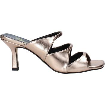 Schoenen Dames Leren slippers Grace Shoes 395R005 Roze