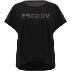 Textiel Dames T-shirts korte mouwen Freddy S1WTBT3 Zwart