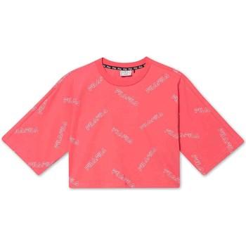 Textiel Meisjes T-shirts korte mouwen Fila 683349 Roze