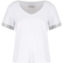 Textiel Dames T-shirts korte mouwen Café Noir JT6490 Wit