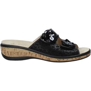 Schoenen Dames Leren slippers Susimoda 1804P Zwart
