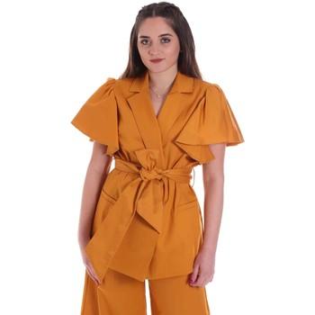 Textiel Dames Jasjes / Blazers Cristinaeffe 0308 2491 Geel