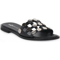 Schoenen Dames Leren slippers Mosaic NERO 500 Nero
