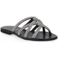 Schoenen Dames Leren slippers Mosaic IMPRESS Nero