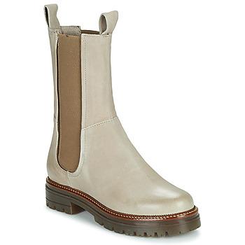 Schoenen Dames Laarzen Mjus DOBLE CHELS Beige