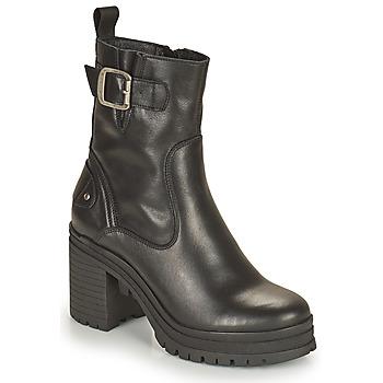Schoenen Dames Enkellaarzen Palladium Manufacture MONA 01 NAP Zwart