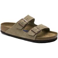 Schoenen Heren Leren slippers Birkenstock Arizona sfb cuir suede Bruin