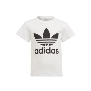 Textiel Kinderen T-shirts korte mouwen adidas Originals FLORE Wit