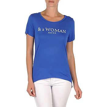 Textiel Dames T-shirts korte mouwen School Rag TEMMY WOMAN Blauw