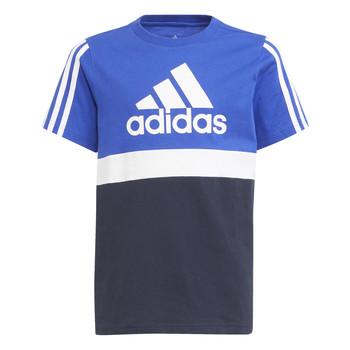 Textiel Jongens T-shirts korte mouwen adidas Performance ABATIA Marine / Zwart