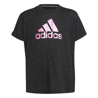 Textiel Meisjes T-shirts korte mouwen adidas Performance MONICA Zwart